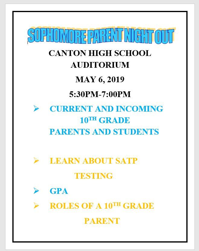 Sophomore Parent Meeting