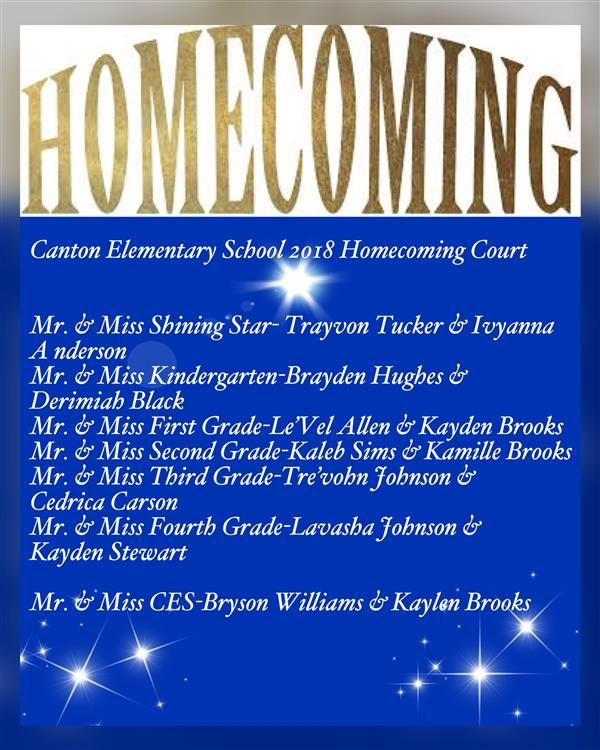 CES Homecoming Royal Court