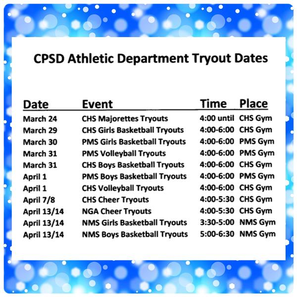 Tryouts List