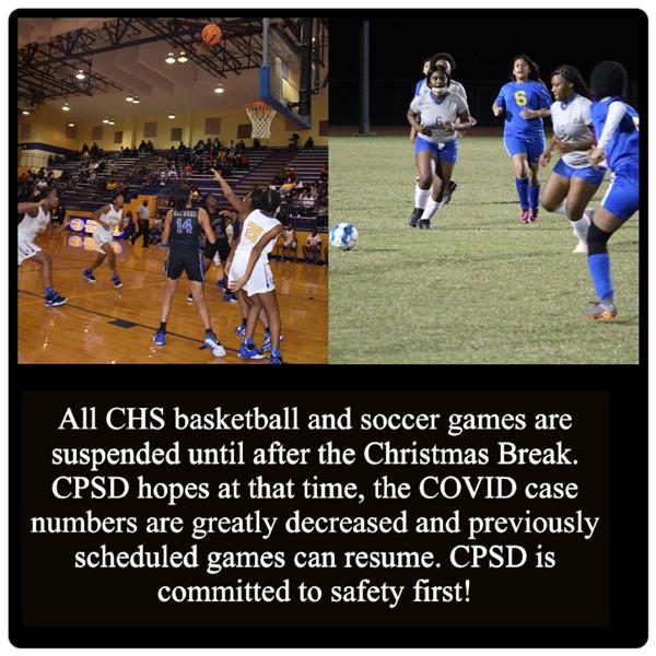 ALL BASKETBALL & SOCCER GAMES SUSPENDED DUE TO COVID-19