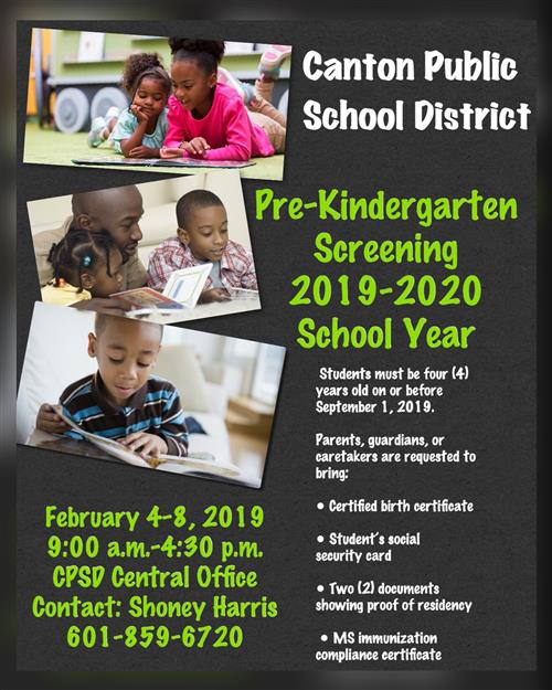 CPSD Pre-Kindergarten Screening