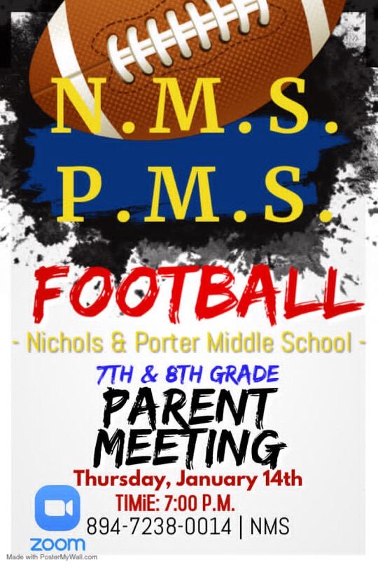 Nichols Middle School Football Meeting