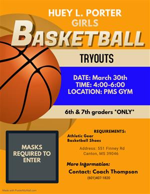 PORTER GIRLS BASKETBALL TRYOUTS