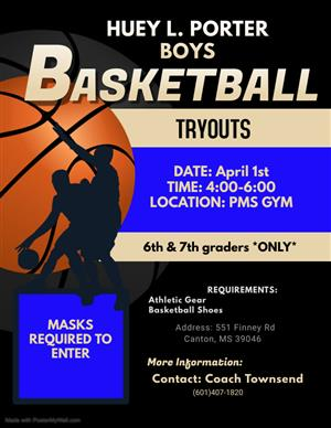 PORTER BOYS BASKETBALL TRYOUTS
