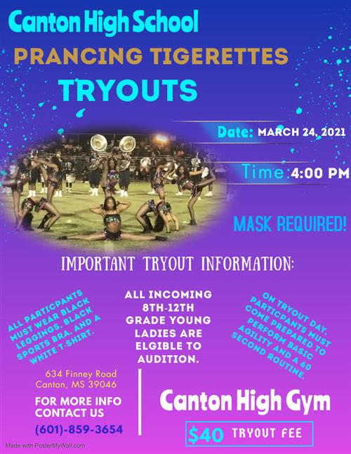 PRANCING TIGERETTES TRYOUTS 2021