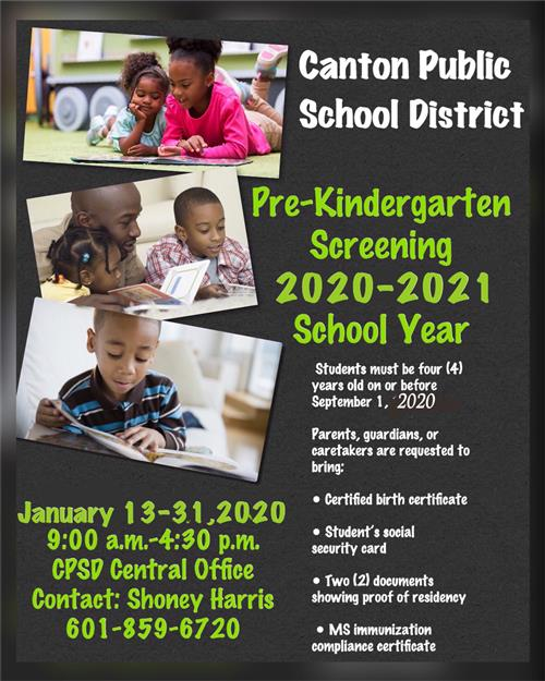 CPSD Pre-K Screenings 2020