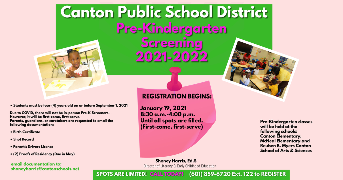 PRE-KINDERGARTEN SCREENING 2021-2022