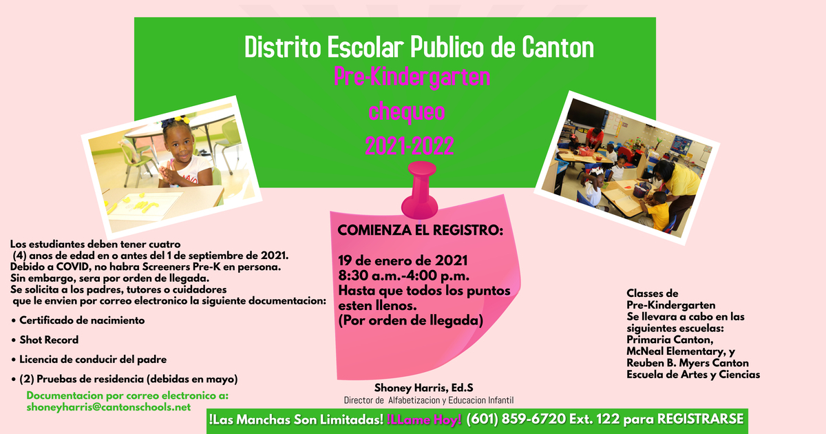 Pre-Kindergarten Screening 2020-2021 Spanish Version