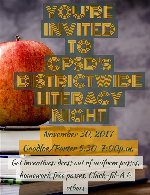 Districtwide Literacy Night