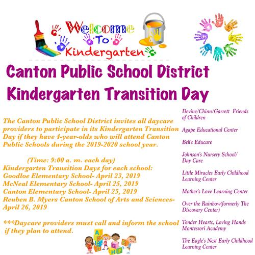 Kindergarten Transition Day