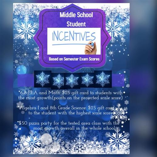 Middle School Student Incentives